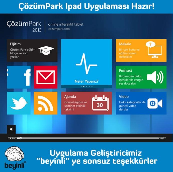ÇözümPark IPAD Uygulaması İndir