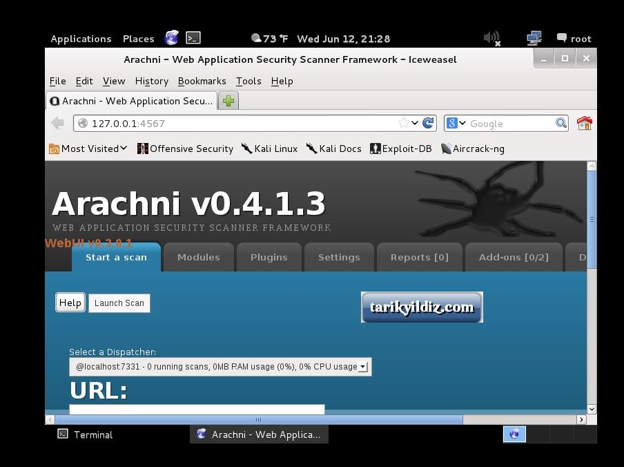 Kali Linux Arachni Kurulum ve Menüleri