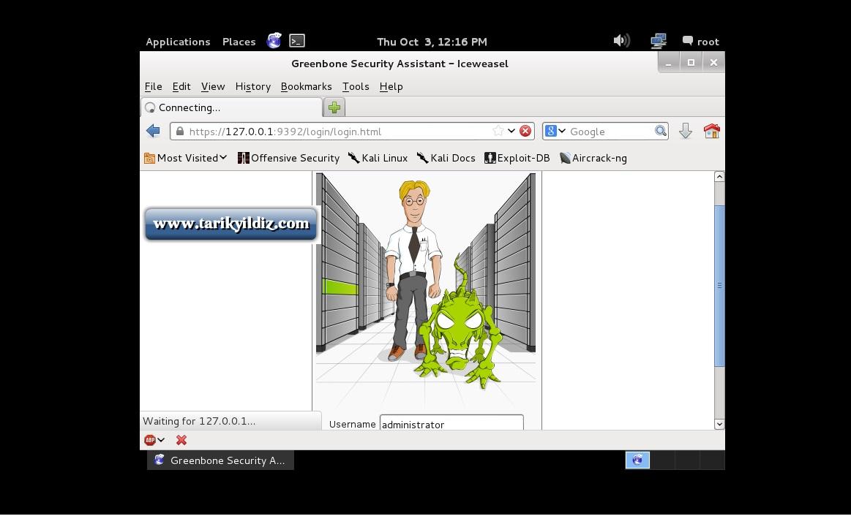 Kali Linux OpenVas (Open Source vulnerability scanner ) Kurulumu