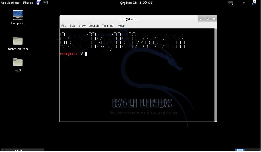 Kali Linux Komut Satırına Nick Yazma