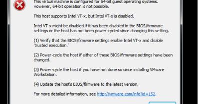 This host supports Intel VT-x, but Intel VT-x is disabled hatası çözümü