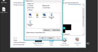 Windows Server 2012 Masaüstü İkonları Aktif Hale Getirme